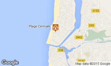 Map Hossegor Apartment 94324