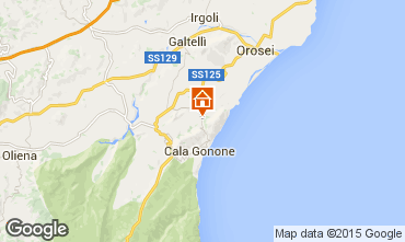 Map Cala Gonone House 86792