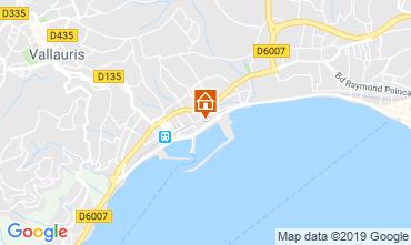 Map Golfe Juan Apartment 117787