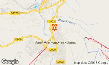 Map Saint Gervais Mont-Blanc Apartment 2626