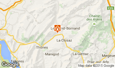 Map La Clusaz Chalet 92319