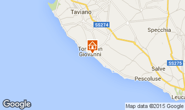 Map Ugento - Torre San Giovanni Apartment 97977
