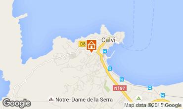 Map Calvi Apartment 79622