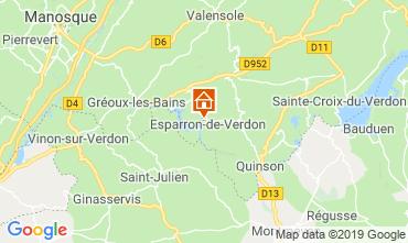 Map Esparron-de-Verdon Apartment 120210