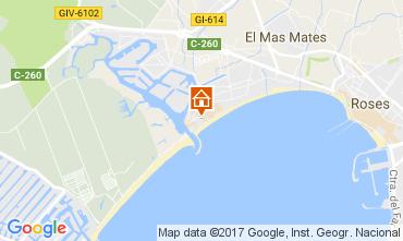 Map Rosas Apartment 109277