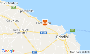 Map Brindisi Unusual accommodation 117050