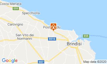 Map Brindisi Unusual accommodation 117050