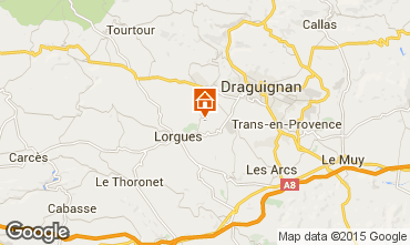 Map Lorgues Vacation rental 92968