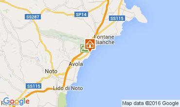 Map Avola Villa 93429