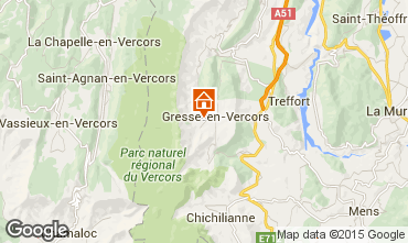 Map Gresse en Vercors Vacation rental 66151