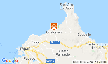 Map San Vito lo Capo Apartment 94100