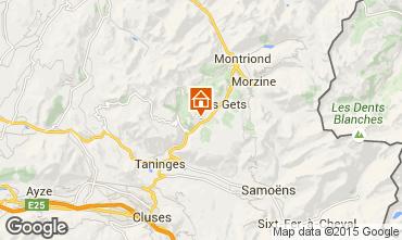 Map Les Gets Chalet 49656