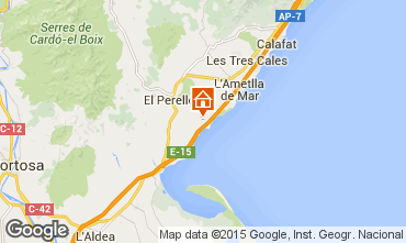 Map La Ametlla de Mar House 101313