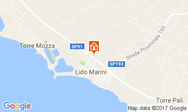 Map Lido Marini Apartment 109022