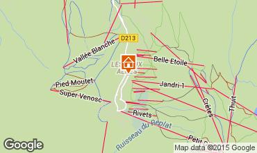 Map Les 2 Alpes Apartment 58701