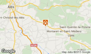 Map Uzès House 96705
