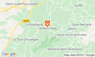 Map Le Mont Dore Apartment 3906