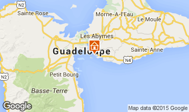 Map Gosier (Guadeloupe) One-room apartment 8004