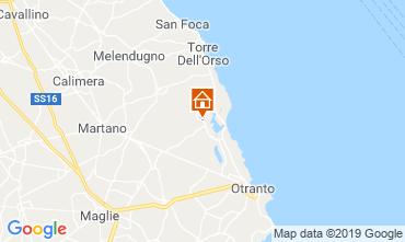 Map Otranto Vacation rental 118484
