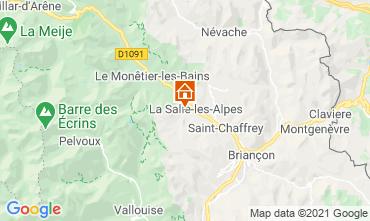 Map Serre Chevalier Apartment 117908