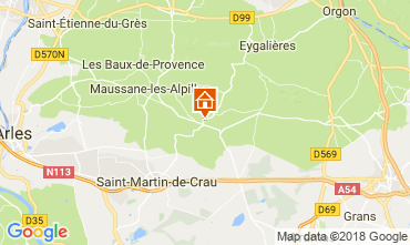 Map Les Baux de Provence Vacation rental 113913