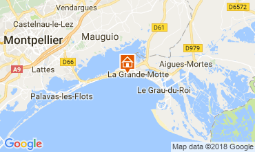 Map La Grande Motte One-room apartment 116057