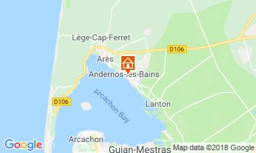Map Andernos les Bains Vacation rental 116644