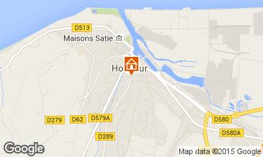 Map Honfleur Vacation rental 59120