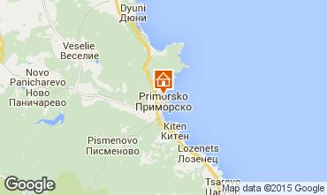 Map Primorsko Apartment 68042