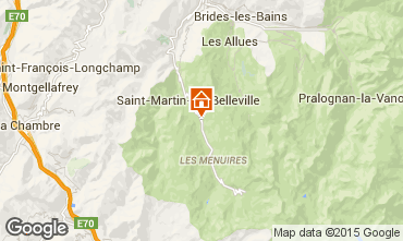 Map Saint Martin de Belleville Chalet 2665