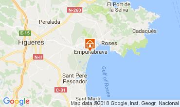 Map Empuriabrava Apartment 112848