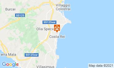 Map Costa Rei Villa 119654