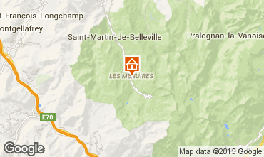 Map Les Menuires Apartment 37394
