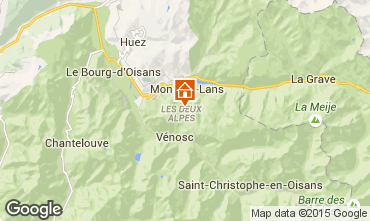 Map Les 2 Alpes Apartment 26369