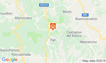 Map Monticiano Vacation rental 120032