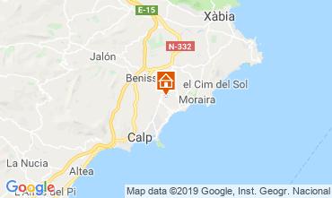 Map Benissa Villa 53480