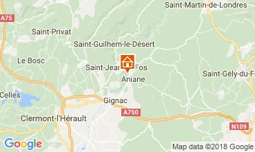 Map Aniane Villa 115280