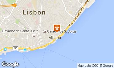 Map Lisbon Apartment 26404