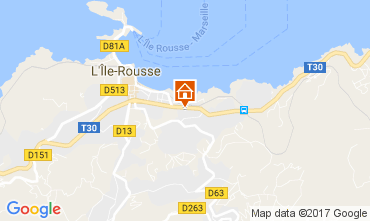 Map Location Ile Rousse Apartment 86870
