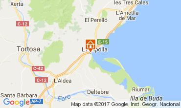 Map L'ampolla Villa 112078