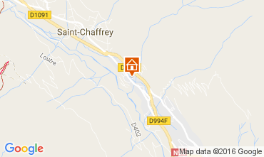 Map Serre Chevalier Chalet 106972