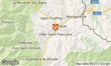 Map Briançon Apartment 505