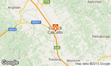 Map Città di Castello Apartment 74064