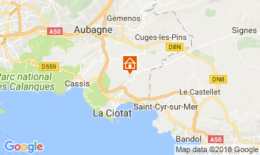 Map La Ciotat Vacation rental 113490