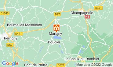Map Clairvaux-les-Lacs Vacation rental 97963