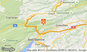 Map La Plagne One-room apartment 74097