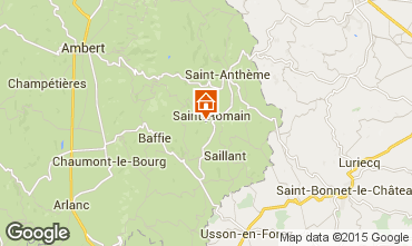 Map Saint-Anthème Vacation rental 85778
