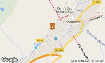 Map Chamonix Mont-Blanc Apartment 14771