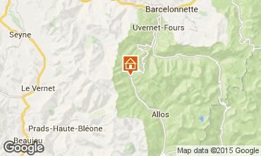 Map La Foux d'Allos One-room apartment 91151