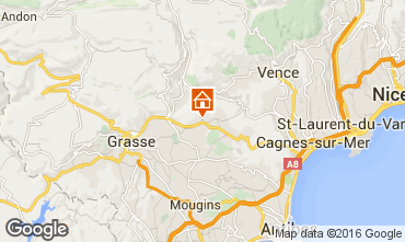 Map Grasse One-room apartment 94327